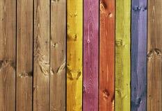Struttura - schede di legno colorate Immagini Stock Libere da Diritti