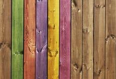 Struttura - schede di legno colorate Fotografia Stock