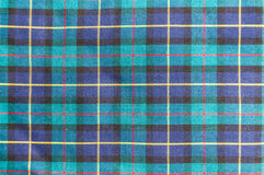 Struttura scozzese del tessuto Fotografie Stock