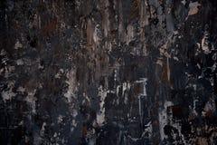 Struttura scura del fondo nei colori neri e marroni Colpi trascurati della pittura Fotografia Stock Libera da Diritti