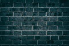 Struttura scura del muro di mattoni del turchese per fondo Fotografie Stock Libere da Diritti
