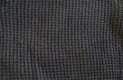 Struttura scura del tessuto del panno Fotografie Stock Libere da Diritti