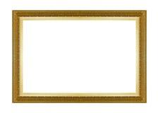 Struttura scura di legno di toni dell'oro della cornice Fotografie Stock