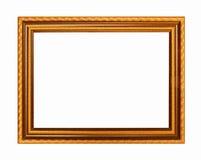 Struttura scura di legno di toni dell'oro della cornice Immagine Stock Libera da Diritti