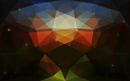 Struttura scura variopinta triangolare Fotografia Stock