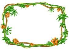 Struttura selvaggia torta dei rami delle liane Viti della giungla illustrazione vettoriale
