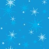 Struttura senza cuciture con i fiocchi di neve Fotografia Stock
