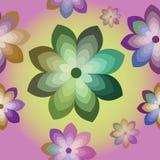 Struttura senza cuciture con i fiori decorativi illustrazione vettoriale