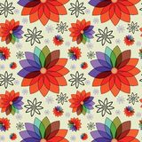 Struttura senza cuciture con i fiori variopinti astratti royalty illustrazione gratis