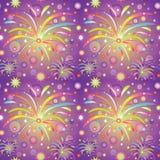 Struttura senza cuciture con i saluts o i fuochi d'artificio royalty illustrazione gratis