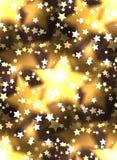 Struttura senza cuciture con stelle d'oro lussuose e bokeh Immagine Stock Libera da Diritti
