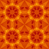 Struttura senza cuciture con un modello floreale caldo di rosso arancio Fotografie Stock