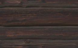 Struttura senza cuciture dei ceppi di legno fuligginosi scuri Fotografia Stock