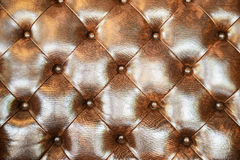 Struttura senza cuciture del cuoio di marrone scuro Fotografie Stock