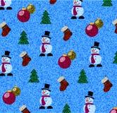 Struttura senza cuciture del fondo di Natale di tessuto Fotografia Stock Libera da Diritti
