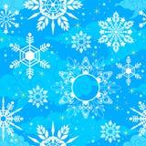 Struttura senza cuciture del modello di Crystal Snowflake nel tono blu-chiaro illustrazione vettoriale
