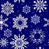 Struttura senza cuciture del modello di Crystal Snowflake nel tono blu della porcellana royalty illustrazione gratis