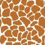 Struttura senza cuciture del modello di vettore della pelle della giraffa Fotografia Stock