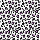 Struttura senza cuciture del modello di vettore della stampa del leopardo Fotografia Stock