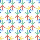 Struttura senza cuciture del sito Web del modello di vettore della freccia di stile piano Immagini Stock Libere da Diritti