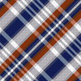 Struttura senza cuciture del tartan diagonale nelle tonalità blu e grigio chiaro illustrazione vettoriale