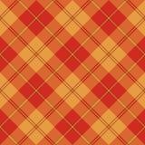 Struttura senza cuciture del tartan giallo marrone-rosso Immagine Stock