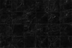 struttura senza cuciture della pavimentazione delle mattonelle di marmo del ฺฺBlack per fondo e progettazione Immagini Stock
