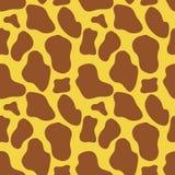 Struttura senza cuciture della pelle della giraffa Illustrazione di Stock