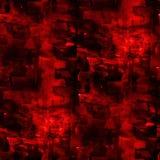 Struttura senza cuciture di arte dell'estratto rosso di cubismo dell'artista Immagini Stock