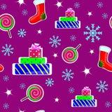 Struttura senza cuciture di Natale Fotografia Stock
