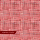 Struttura senza cuciture di tela rossa Fotografie Stock