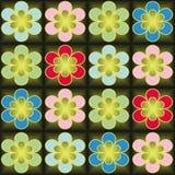 Struttura senza cuciture di vettore con i fiori variopinti royalty illustrazione gratis