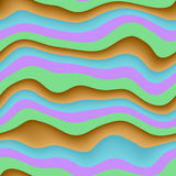 Struttura senza cuciture di Wave 3D Immagini Stock