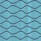 Struttura senza cuciture di Wave 3D Fotografia Stock