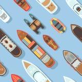 Struttura senza cuciture diagonale della nave del mare di vista superiore e della barca di trasporto royalty illustrazione gratis