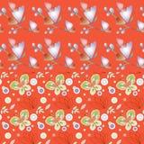 Struttura senza cuciture due con le farfalle illustrazione di stock