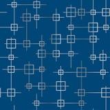 Struttura senza cuciture geometrica con i quadrati e le linee d'argento illustrazione vettoriale