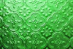 Struttura senza cuciture verde variopinta Fondo di vetro Forme di vetro floreali dell'estratto del modello della parete della dec Fotografie Stock