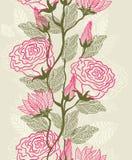Struttura senza giunte con i fiori Fotografia Stock Libera da Diritti