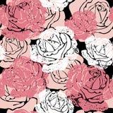 Struttura senza giunte con i fiori illustrazione di stock