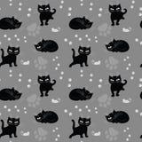 Struttura senza giunte con i gatti Immagine Stock