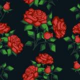 Struttura senza giunte con le rose Immagini Stock Libere da Diritti