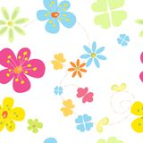 Struttura senza giunte dei fiori Fotografie Stock Libere da Diritti