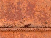 Struttura senza giunte del metallo della ruggine fotografie stock