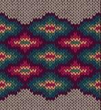 Struttura senza giunte di lana dell'ornamento di Etnic del Knit illustrazione vettoriale