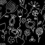 Struttura senza giunte floreale decorata Immagini Stock Libere da Diritti