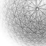 struttura sferica 3d in bianco e nero illustrazione di stock