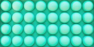 Struttura simmetrica dei cerchi tridimensionali Palle del silicone i fotografie stock