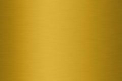 Struttura spazzolata dell'oro Fotografia Stock Libera da Diritti