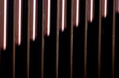 Struttura spogliata porta del garage di Brown; fondo del metallo Fotografia Stock Libera da Diritti